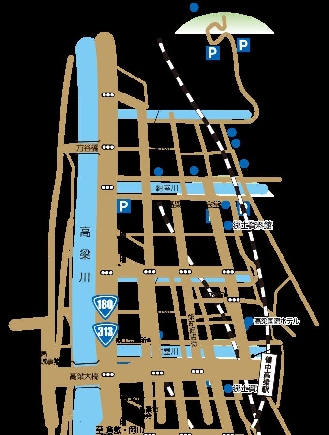 備中松山城地図