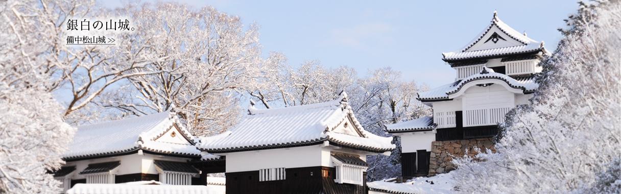 銀白の山城-備中松山城